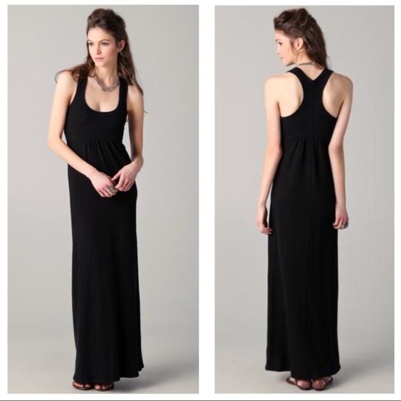 James Perse Dresses Nwt Black Tank Maxi Dress Poshmark